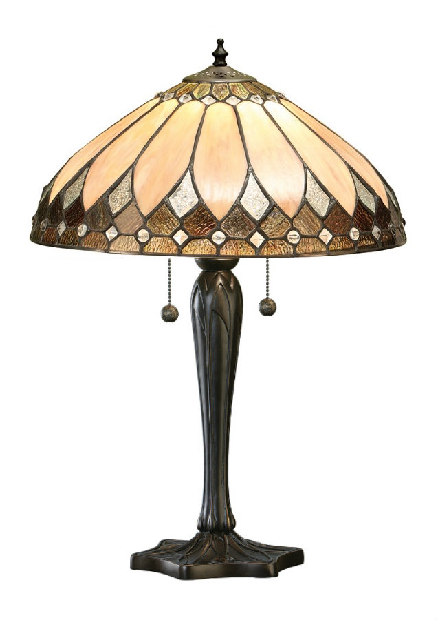 Tiffanylampen Tischlampe Rose