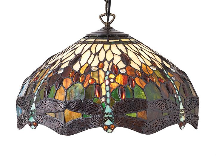 Lampadari E Plafoniere Tiffany : Lampade tiffany polarfox lampadario dragonfly green Ø cm