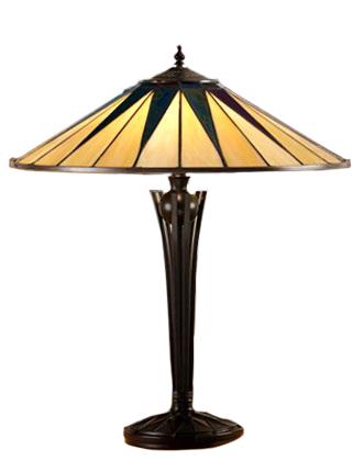 Tiffanylampa Bordslampa Star Ø 49cm