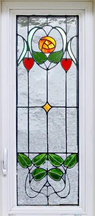 grλεκιασμένο γυαλί παράθυρο Noveau