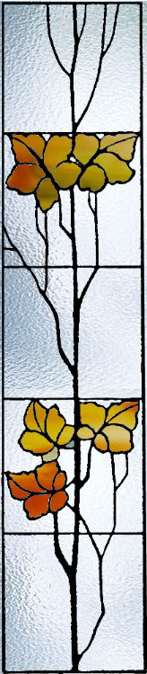 Vitral para ventana Fall Leaves
