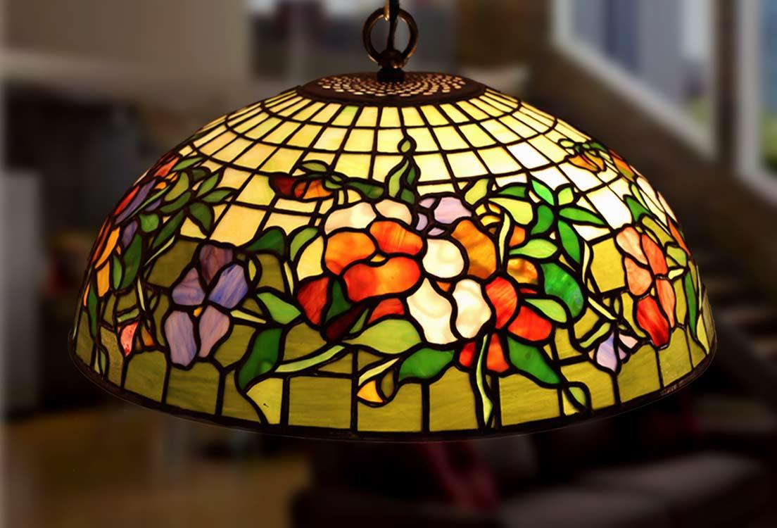 Tiffany lamps table lamp rose - Lamparas originales ...