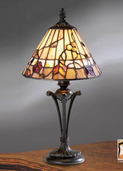 tiffany lampen polarfox tafellamp dark wood 20cm. Black Bedroom Furniture Sets. Home Design Ideas