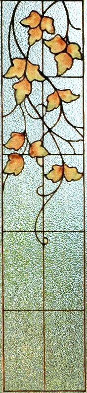Blyinfattat Fönster Grape leaves