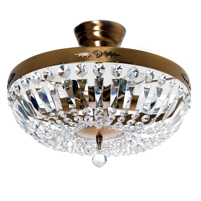 Tiffany lampe polarfox kristall leuchte nobel cognac 36cm for Kristall leuchte