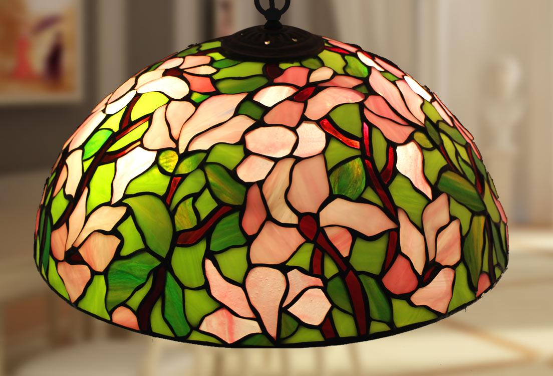 Lampadari E Plafoniere Tiffany : Lampade tiffany polarfox lampadario magnolia Ø cm