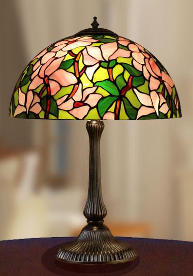 Lampade Tiffany Polarfox - Abatjour Magnolia Ø 31cm