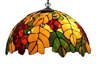 Tiffanylampa Taklampa Oak Ø 42cm