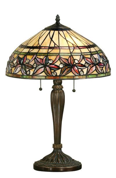 Tiffanylampa Bordslampa Crimson Ø 41cm