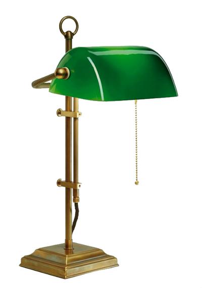 L mparas tiffany polarfox l mpara de mesa banker green for Lamparas de mesa tiffany