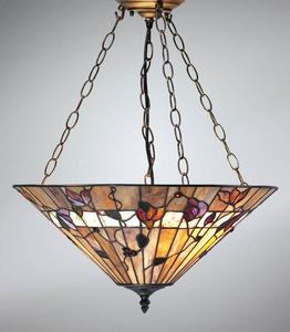 Tiffanylampa Taklampa Dark Wood Ø 50cm