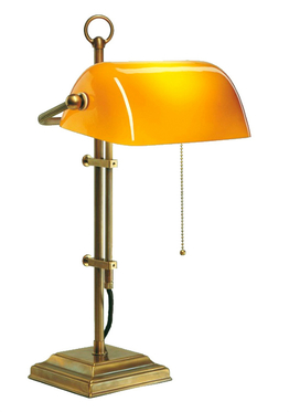 Tiffanylampa Bordslampa Banker Orange