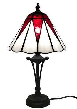 Tiffanylampa Bordslampa Red Star Ø 21,5cm