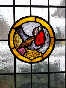 Stained glass window Robin