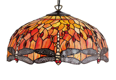 Lampadari E Plafoniere Tiffany : Lampade tiffany polarfox lampadario dragonfly Ø cm