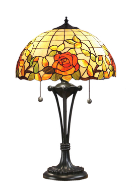 Table lamp Red Rose Ø 41cm