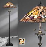 Tiffanylampa Golvlampa Dark Wood Ø 50cm