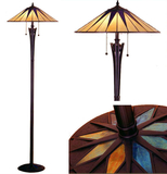 Tiffanylampa Golvlampa Star Ø 49cm
