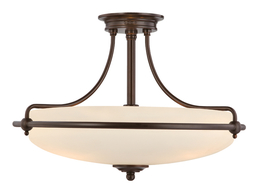 Lampadario Boston Bronze M Ø 53 x 36cm