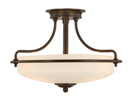Lampadario Boston Bronze S Ø 43 x 30cm
