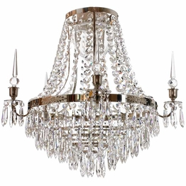 Crystal chandelier Nobel Bath Nickel Ø 45cm