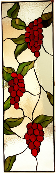 Vitral para ventana Red Grapes