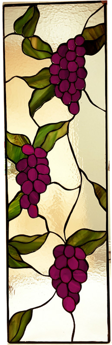 Vitral para ventana Violet Grapes