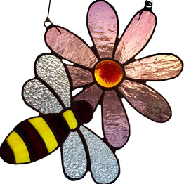 Målat glas Sun Catcher Bee ↕ 20cm