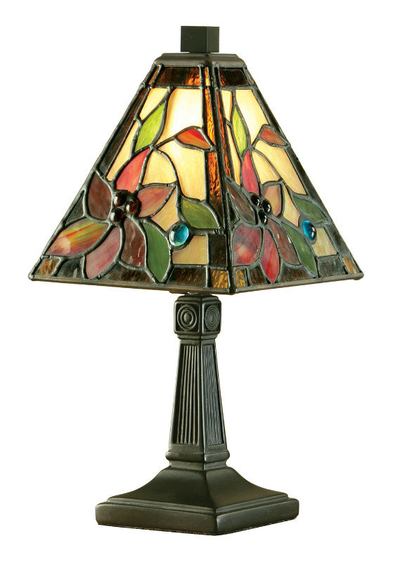 Tiffanylampa Bordslampa Dalia Ø 15cm