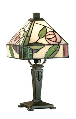 Tiffanylampa Bordslampa Rose Ø 15cm