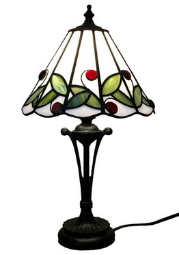 Tiffanylampa Bordslampa Cherry Ø 22cm