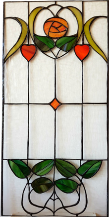 Stained glass window Noveau