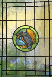 Blyinfattat Fönster Kingfisher