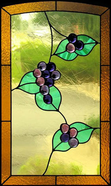Vitral para ventana Grapes