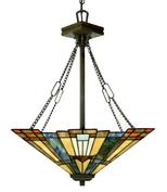 Tiffanylampa Taklampa Dakota Ø 45 cm