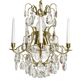 Crystal chandelier 5 Nickel Ø 42cm
