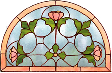 Stained glass window Tiffany