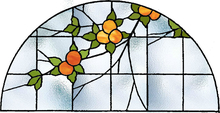 Stained glass window Oranges