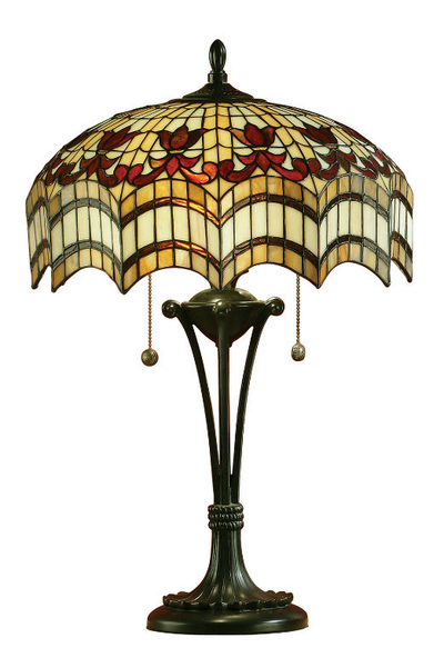 Tiffanylampa Bordslampa Curtain Ø 42cm
