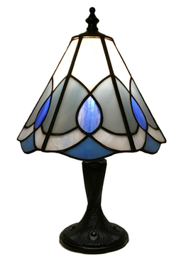 Tiffanylampa Bordslampa Blue mist Ø 20cm