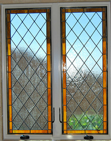 Stained glass window Diamond III