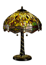 Tiffanylampa Bordslampa Dragonfly Green Ø 41cm