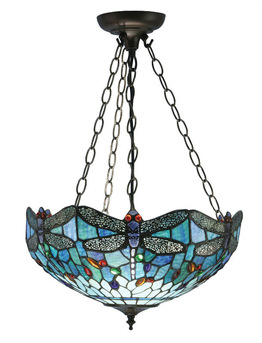 Loftlampe Dragonfly Blue Ø 49cm