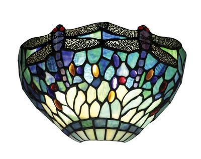 Tiffanylampa Vägglampa Dragon Fly Blue