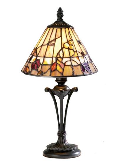 Tiffanylampa Bordslampa Dark Wood Ø 20cm