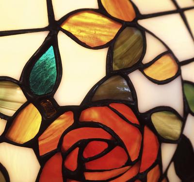 Taklampa Red Rose Ø 50cm