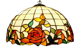 Taklampe Red Rose Ø 50cm