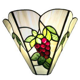 Tiffanylampa Vägglampa Red Grape ↕ 24cm