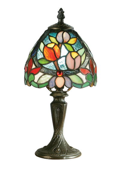 Tiffanylampa Bordslampa Flowers Ø 15cm