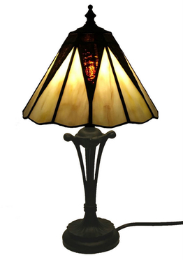 Tiffanylampa Bordslampa New Star Ø 21,5cm